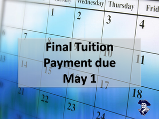 Final Tuition payment due