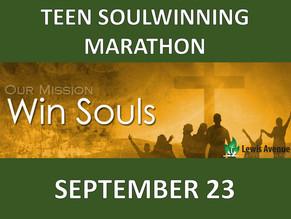 Pray for our Teen Soulwinning Marathon
