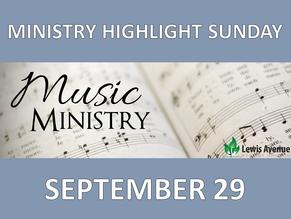 Ministry Highlight Sunday
