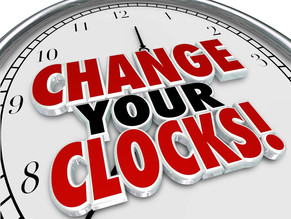 Sunday, March 14 is time change!