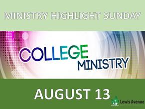 Ministry Highlight Sunday: College Sunday