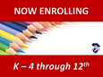 Now Enrolling for the 2021-2022 School Year!