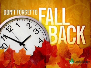 Don't forget about time change this Sunday!