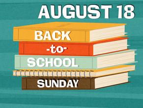 Back - to- School Sunday