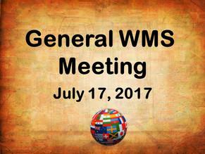 General WMS Meeting