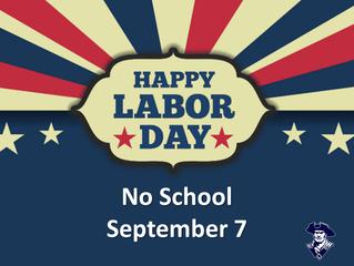 No School (Labor Day)