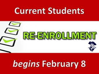 Re-Enrollment for Current Students