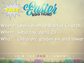 Register for the Easter egg hunt today!