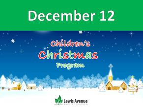 Church Children's Christmas Program