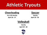 Athletic Tryouts for 2021-2022 Fall Sports