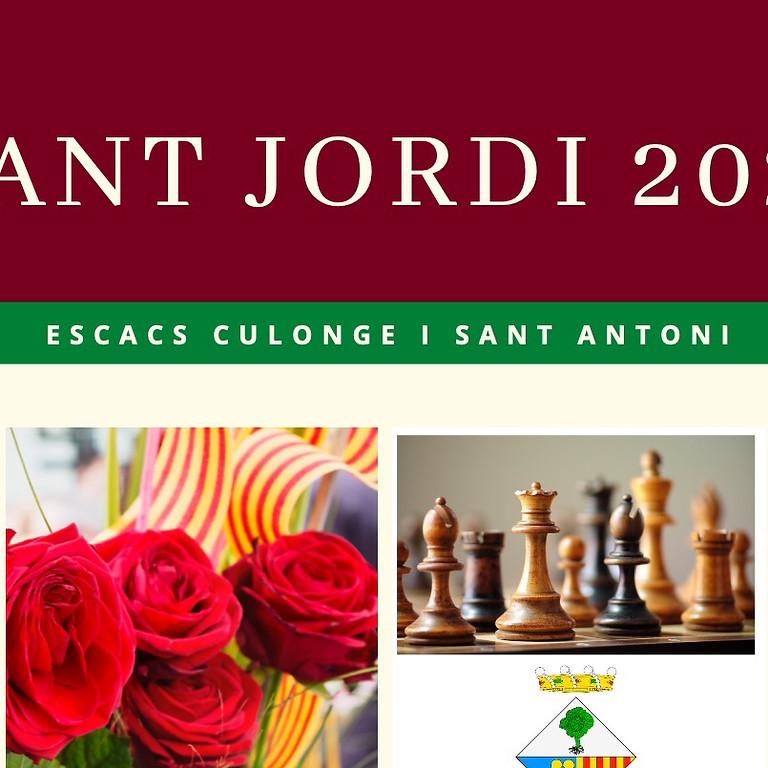 Sant Jordi 2021. Partides al castell i simultànies amb el GM Jaume Cuartas.