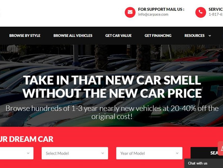 Car Pace Announces the Launch of New, User-Friendly Website