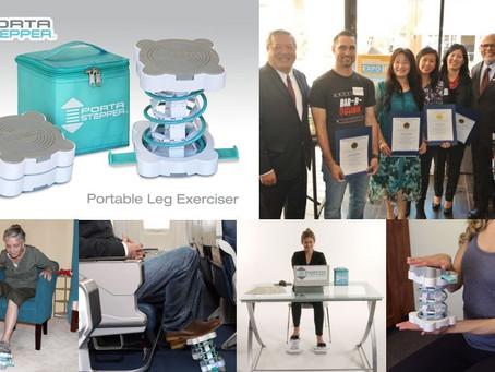 Porta Stepper™ Exerciser Recognized for its Innovation, Makes Exercise Fun, Convenient & Super E