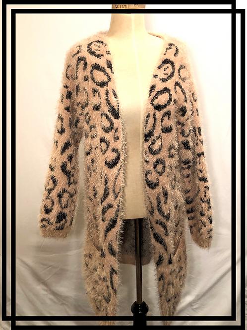 Women's Faux fur luxury sweater with pockets