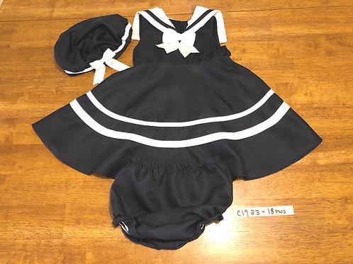Children's Dress with matching hat & bottom