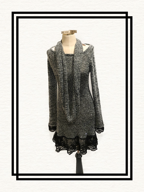 Women's Tunic Sweater with matching scarf