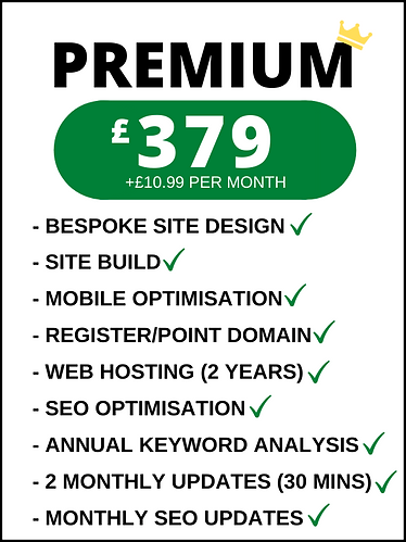 Performer website pricing