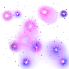 Pink And Purple Glowing Stars PNG 1000X1