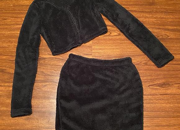 Plush 2 Piece Skirt Set