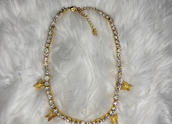 Buttafly Necklace: Gold