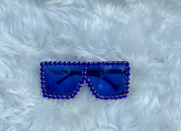 Blinged Out Trinndy Shades: Blue