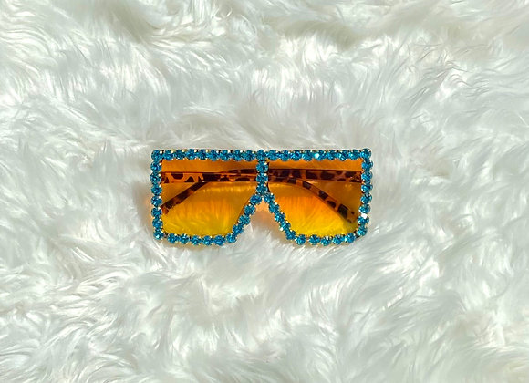 Blinged Out Trinndy Shades: Turquoise