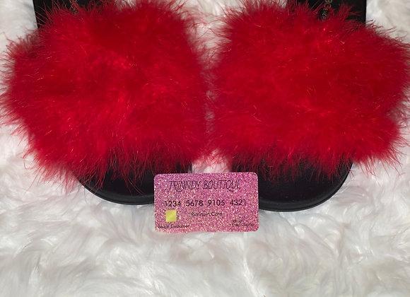 Fur Slides: Cherry Red