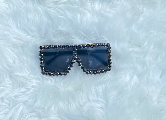 Blinged Out Trinndy Shades: Black
