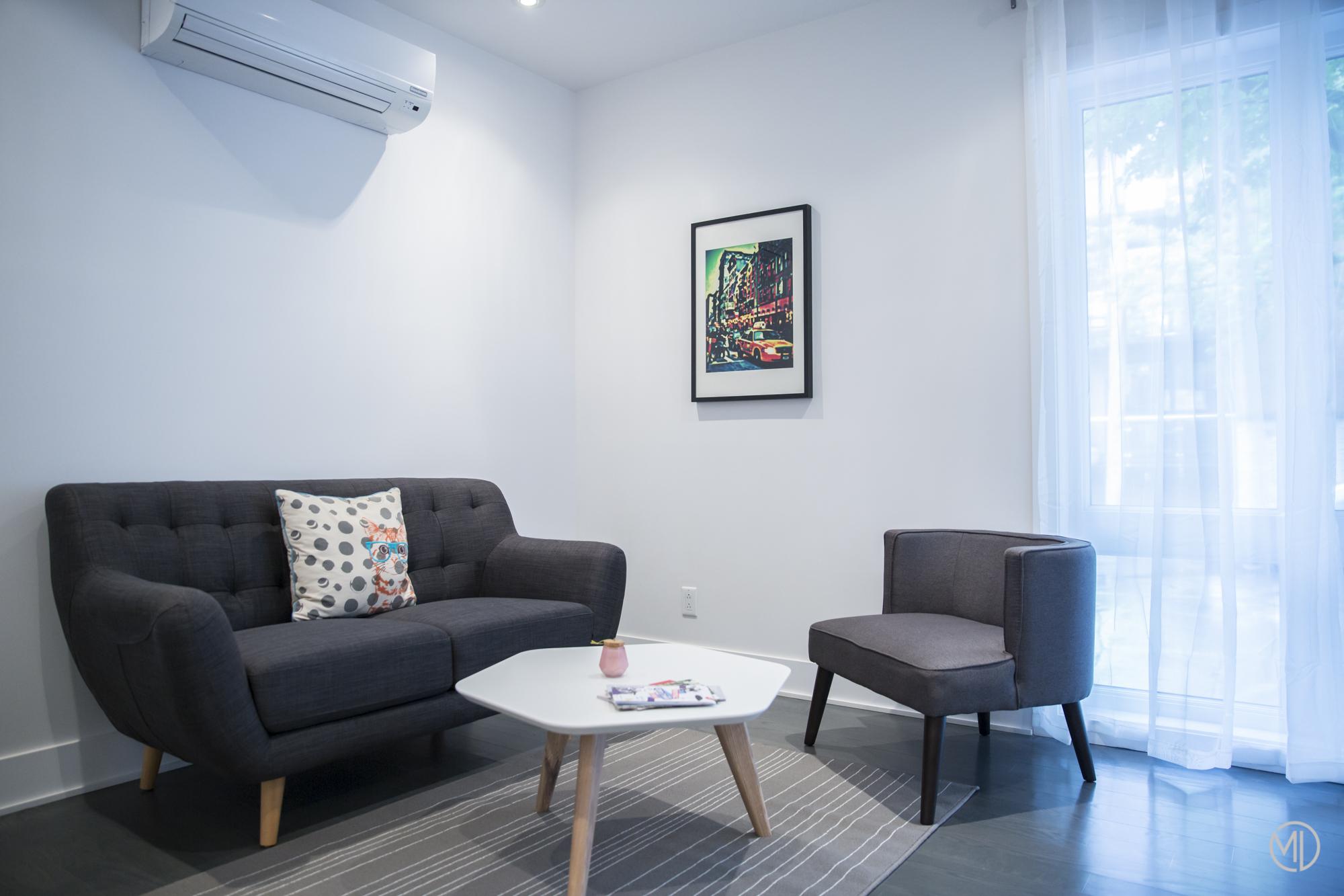 Airbnb salon photos Montréal