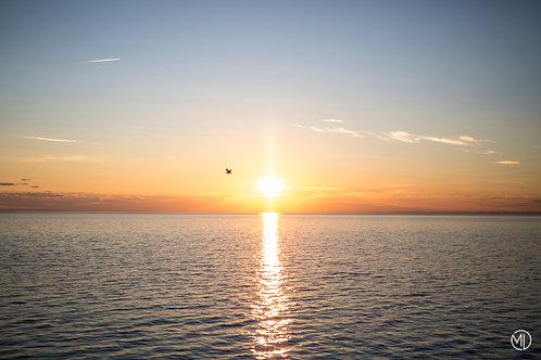 5 photos - couchers de soleil