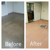 既存の床をタイルカーペットに貼り替え、子供にも優しい床にしました。