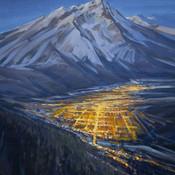 Mountain Town at night