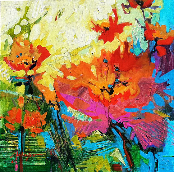 multicoloured painting titled from the inside by artist gail johnson