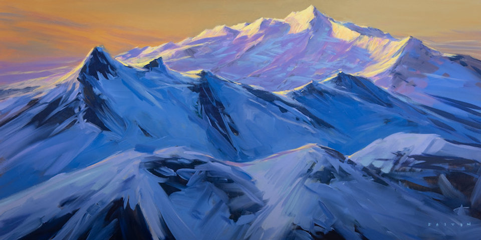 multicolour acrylic painting by artist charlie easton