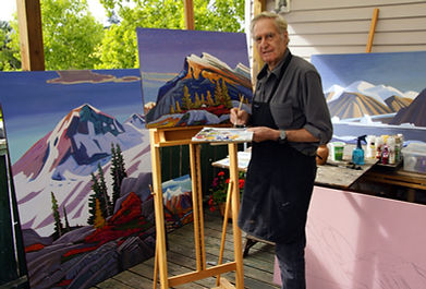 Nicholas Bott working at his studio