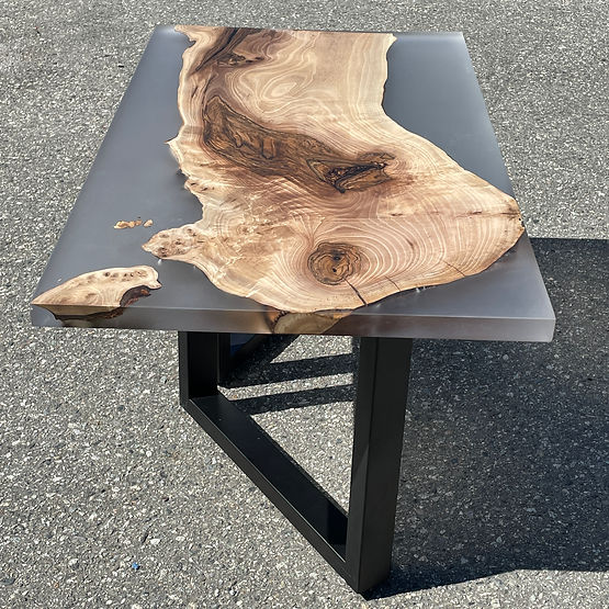 Resin and Wood coffee table