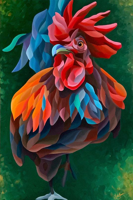 Multicolour acrylic painting by Jacqueline de Grave