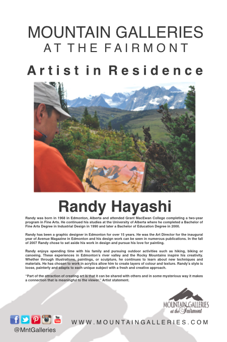 Randy Hayashi Artist in Residence