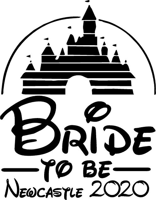 Bride Tshirt - DISNEY CASTLE