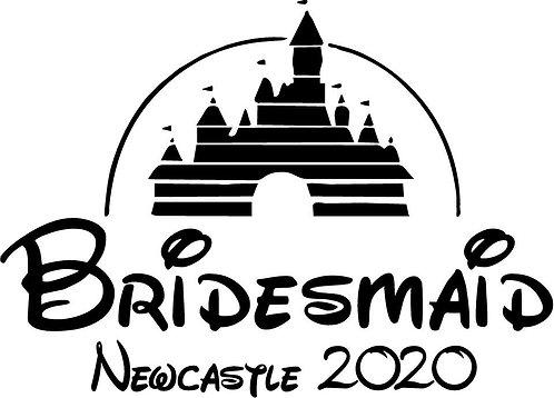 Bridesmaid Tshirt - DISNEY CASTLE