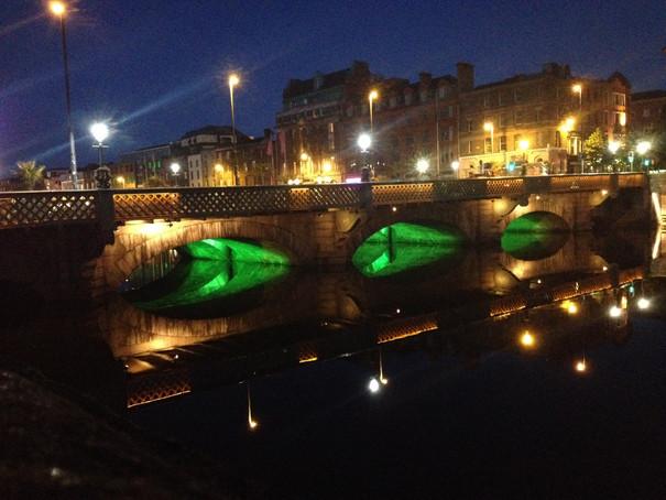 Dublin City Lights at Night