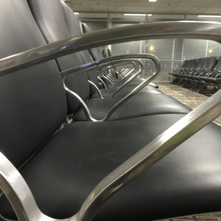 Plenty of chairs at the airport