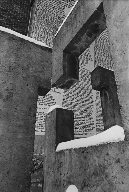 Cement and Snow with Words