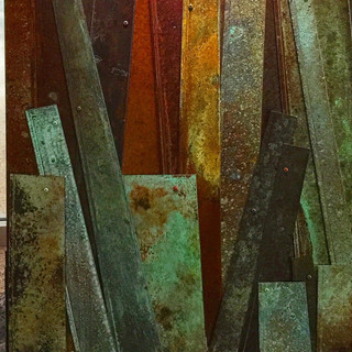 Strips of Rusted Wood