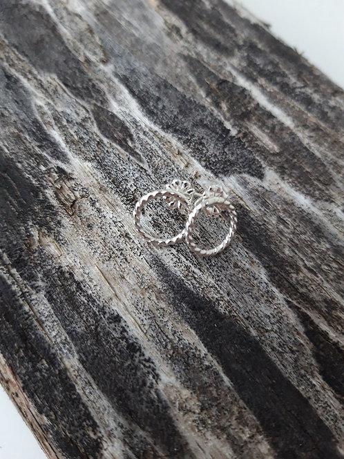 Silfureyrnalokkar hringir beint í eyra - 8 mm