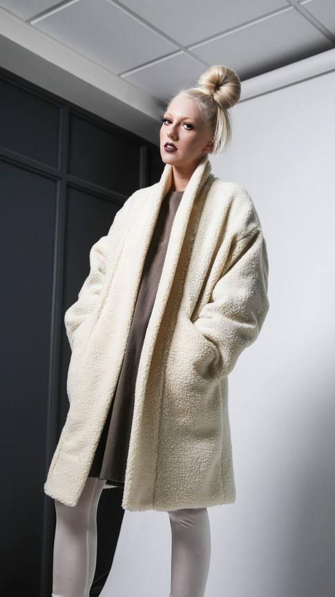 Organic cotton sweater/coat