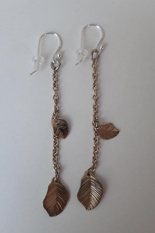 Eyrnalokkar Silfur 925 festingar / Upcycled jewelry