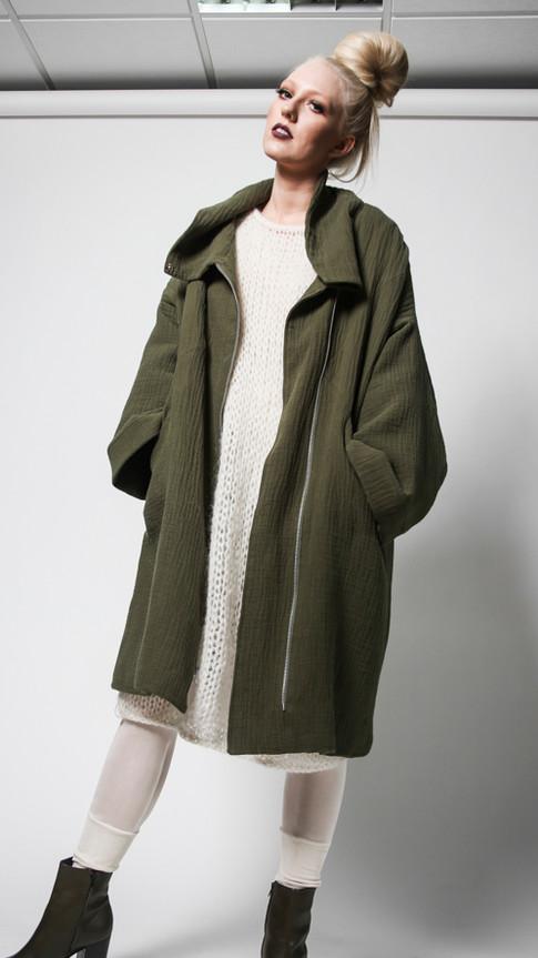 Linen/organic cotton coat