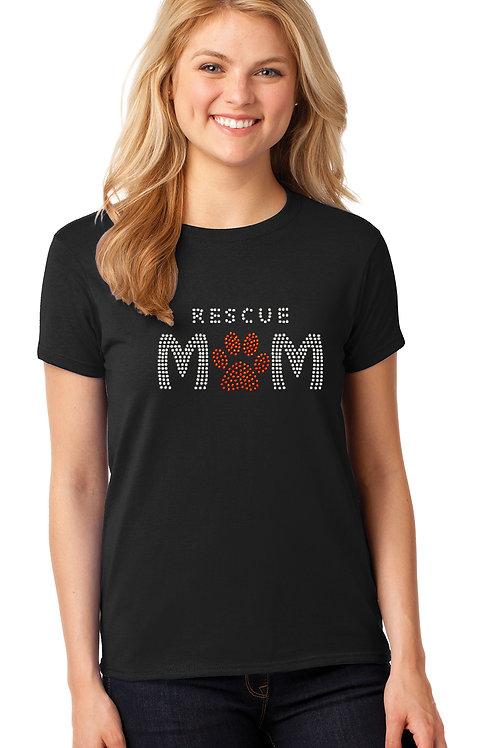 Rhinestone Rescue Mom Tee