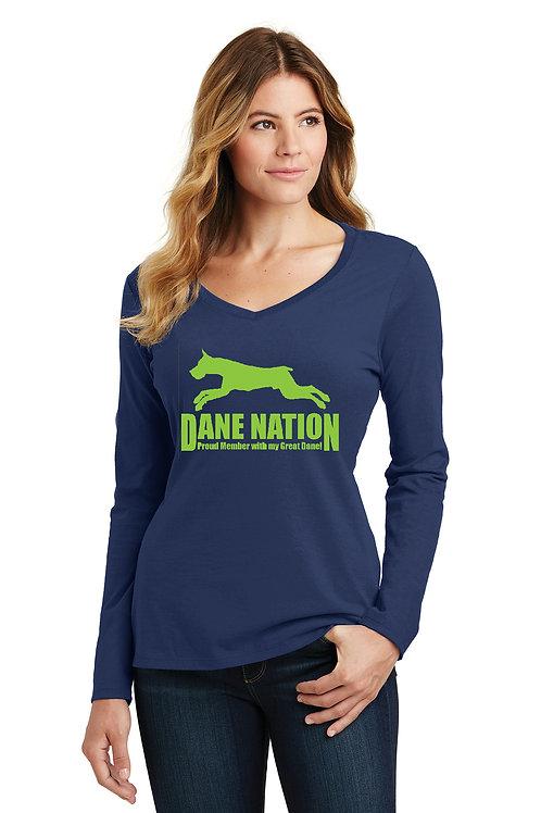 Ladies L/S Tee Dane Nation